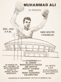 """Boxing Collectibles:Memorabilia, 1970's Muhammad Ali """"In Person"""" Promotional Poster. ..."""