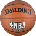 Basketball Collectibles:Balls, 2003-04 Los Angeles Lakers Team Signed Basketball. ...