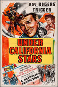 "Movie Posters:Western, Under California Stars (Republic, 1948). One Sheet (27"" X 41"").Western.. ..."