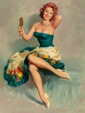 Pin-up and Glamour Art, William Medcalf (American, 20th Century). Blossoming Beauty.Oil on board. 40 x 30 in.. Signed lower left. ...