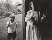Emmet Gowin (American, b. 1941) Edith and Elijah, circa 1969 Gelatin silver 5-1/8 x 6-1/2 inches