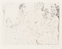 Pablo Picasso (1881-1973) Degas imaginant, from La Séries 156, 1971 Etching on wove paper