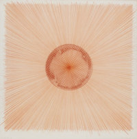 Ed Ruscha (b. 1937) Hot Air Being Blown, 1982 Etching in colors on wove paper 34-5/8 x 33-3/4 inc