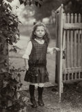 Photographs, August Sander (German, 1876-1964). Farm Child, Westerwald, circa 1919-20. Gelatin silver, 1990. 10-1/8 x 7-3/8 inches (2...