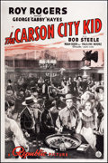 """Movie Posters:Western, The Carson City Kid (Republic, 1940). One Sheet (27"""" X 41""""). Western.. ..."""