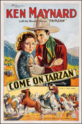 "Movie Posters:Western, Come On, Tarzan (World Wide Pictures, 1932). One Sheet (27"" X 41"").Western.. ..."
