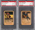 Hockey Cards:Lots, 1951 Parkhurst Hockey PSA Graded Pair (2). ...