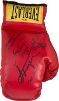 Boxing Collectibles:Memorabilia, Circa 1990 Great Heavyweights of the 1970's Multi-Signed Boxing Glove....