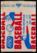 Baseball Cards:Unopened Packs/Display Boxes, 1950 Bowman Baseball 1-Cent Wax Pack With HoFer Lou Boudreau. ...