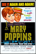 """Movie Posters:Fantasy, Mary Poppins (Buena Vista, R-1973). One Sheets (2) (27"""" X 41"""") Flat Folded Styles A & B. Fantasy.. ... (Total: 2 Items)"""