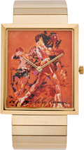 Boxing Collectibles:Memorabilia, 1990 Muhammad Ali Classic Moments Artist's Watch by LeRoy Neiman....