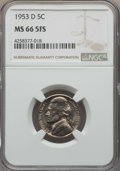 Jefferson Nickels, 1953-D 5C MS66 Full Steps NGC. PCGS Population: (14/1). ...