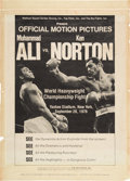 Boxing Collectibles:Memorabilia, 1976 Muhammad Ali vs. Ken Norton Official Motion Pictures Promotional Poster. ...