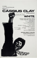 """Boxing Collectibles:Memorabilia, 1969 Cassius Clay AKA Muhammad Ali """"Buck White"""" Theater Poster by Mozelle Thompson...."""