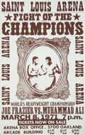 Boxing Collectibles:Memorabilia, 1971 Muhammad Ali vs. Joe Frazier I Fight Poster....