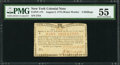 Colonial Notes:New York, New York August 2, 1775 (Water Works) 4s PMG About Uncirculated55.. ...