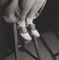 Photographs:Gelatin Silver, Esther Bubley (American, 1922-1998). Saddle shoes on H.S. girl, Washington, D.C., 1943. Gelatin silver, printed later. 7...