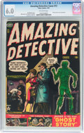 Golden Age (1938-1955):Horror, Amazing Detective Cases #13 (Atlas, 1952) CGC FN 6.0 Off-whitepages....