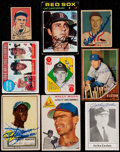 Baseball Cards:Autographs, Signed Baseball Stars & Hall of Famers Card Collection (9). ...