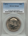 Kennedy Half Dollars, 1971 50C MS66 PCGS. PCGS Population: (102/6). NGC Census: (44/5).Mintage 155,164,000. ...