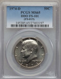Kennedy Half Dollars, 1974-D 50C Doubled Die Obverse, FS-101, MS65 PCGS. PCGS Population:(18/1). NGC Census: (136/10). ...