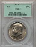Kennedy Half Dollars, 1978 50C MS67 PCGS. PCGS Population: (33/0). NGC Census: (10/0).Mintage 14,350,000. ...