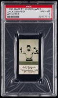 Boxing Cards:General, 1930 Mazetti Chocolates Athletes Jack Dempsey PSA NM-MT 8....