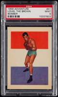 Boxing Cards:General, 1956 Adventure Joe Louis #41 PSA Mint 9....