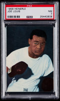 Boxing Cards:General, 1958 Heinerle Boxing Joe Louis PSA NM 7....