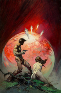 Frank Frazetta (American, 1928-2010) Red Planet, 1974 Oil on masonite 24 x 15.625 in. Signed a