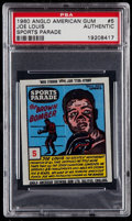 "Boxing Cards:General, 1960 Anglo American Gum ""Sports Parade"" Joe Louis #5 PSAAuthentic...."