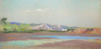 Original Frank Reaugh Pastel, Book, and Sketch Trip Map Reproduction Proceeds Benefit The Bryan Museum