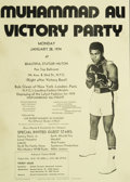 Boxing Collectibles:Memorabilia, 1974 Muhammad Ali Victory Party Promotional Flier. ...