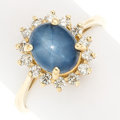 Estate Jewelry:Rings, Star Sapphire, Diamond, Gold Ring. . ...