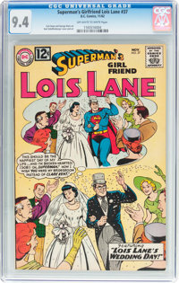 Superman's Girlfriend Lois Lane #37 (DC, 1962) CGC NM 9.4 Off-white to white pages