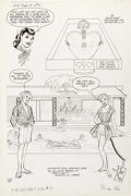 Original Comic Art:Splash Pages, Bill Woggon Archie Giant Series Magazine #7 Katy Keene StoryPage 6 (Archie, 1960). ...