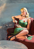 Paintings, American Artist (20th Century). Convention Girl, paperback cover, 1954. Mixed media on board. 27.75 x 15.5 in.. Not sign... (Total: 2 Items)