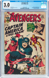 The Avengers #4 (Marvel, 1964) CGC GD/VG 3.0 Cream to off-white pages