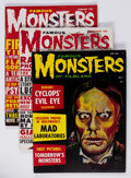 Magazines:Horror, Famous Monsters of Filmland #7, 9, and 10 Group (Warren, 1960) Condition: Average FN+.... (Total: 3 Items)