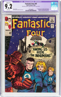 Fantastic Four #45 (Marvel, 1965) CGC Apparent NM- 9.2 Slight (A-1) White pages