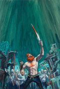 Paintings, Kelly Freas (American, 1922-2005). Redbeard, paperback cover, 1969. Oil on board. 14.25 x 9.5 in. (sight). Initialed low... (Total: 2 Items)