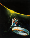 Mainstream Illustration, Robert Kennedy Abbett (American, b. 1926). The Third GalaxyReader, paperback cover, 1960. Oil on board. 19.5 x 15.5 in....(Total: 2 Items)