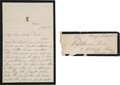 Autographs:U.S. Presidents, Mary Todd Lincoln Autograph Letter Signed with Transmittal Cover with Franking Signature....