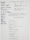 Autographs:Military Figures, Chester W. Nimitz Signed Souvenir Copy of the Signature Page of theJapanese Surrender Documents. ...