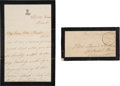 Autographs:U.S. Presidents, Mary Todd Lincoln Autograph Letter Signed with Transmittal Coverwith Franking Signature....