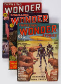 Pulps:Science Fiction, Thrilling Wonder Stories Group of 4 (Standard, 1937-40) Condition:Average FN.... (Total: 4 Items)