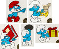 Animation Art:Color Model, The Smurfs Color Model Cel Group of 5 (Hanna-Barbera,1981).... (Total: 5 )