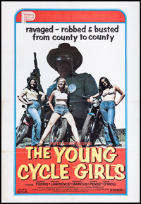 "The Young Cycle Girls (Peter Perry Pictures, 1977). One Sheet (29"" X 42""). Bad Girl"