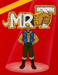 Animation Art:Presentation Cel, Mr. T Publicity Cel and Painted Background (Ruby-Spears,1983).... (Total: 2 )