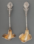 Silver & Vertu:Flatware, A Pair of Wood and Hughes Medallion Pattern Partial Gilt Silver Ladles, New York, New York, circa 1863-1870. Mar... (Total: 2 Items)